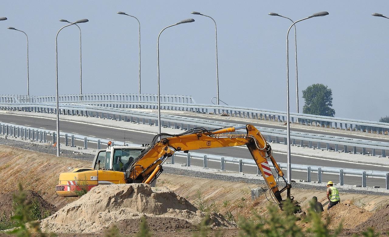 way, building, excavator